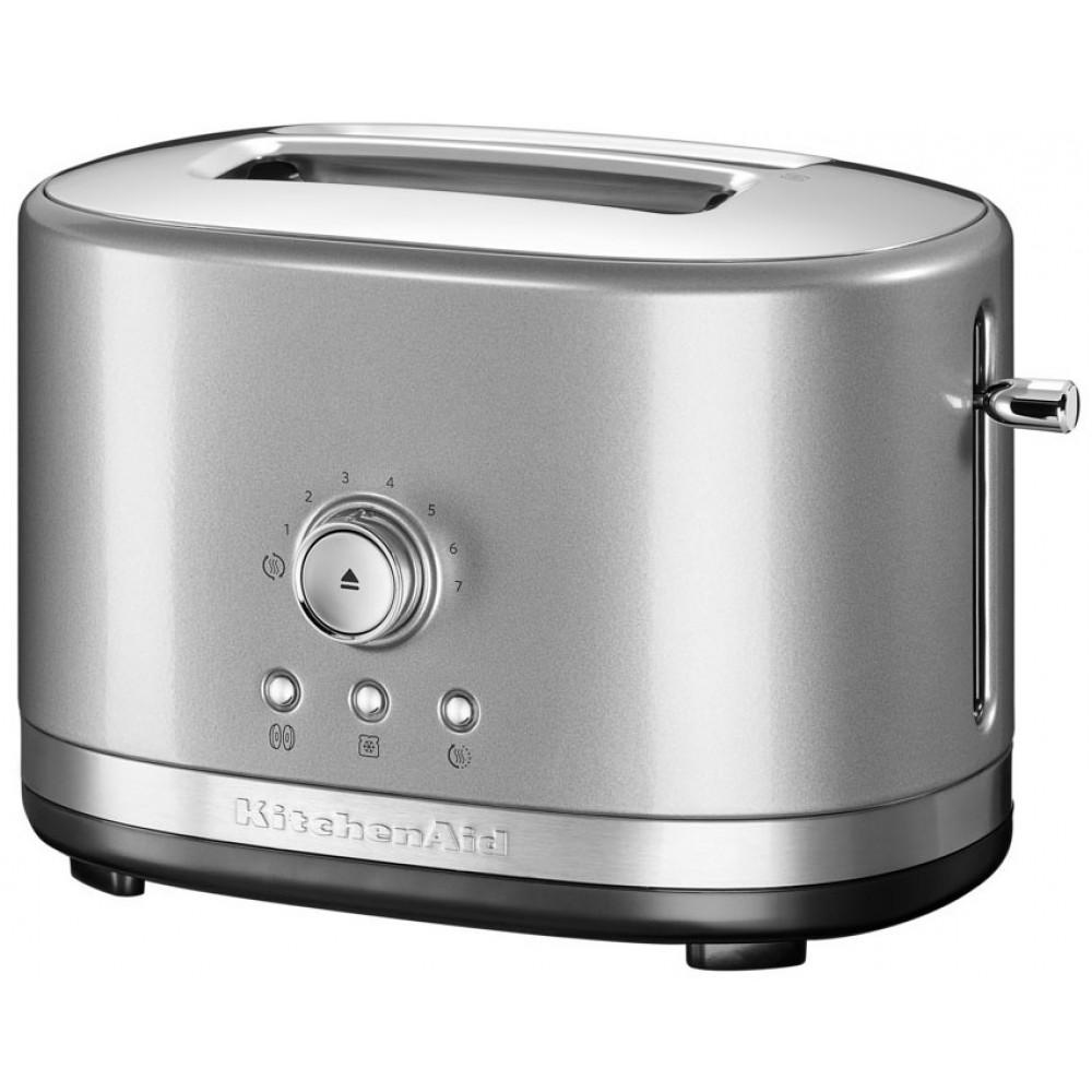 Тостер KitchenAid, серебристый, 5KMT2116ECU с ручным управлением
