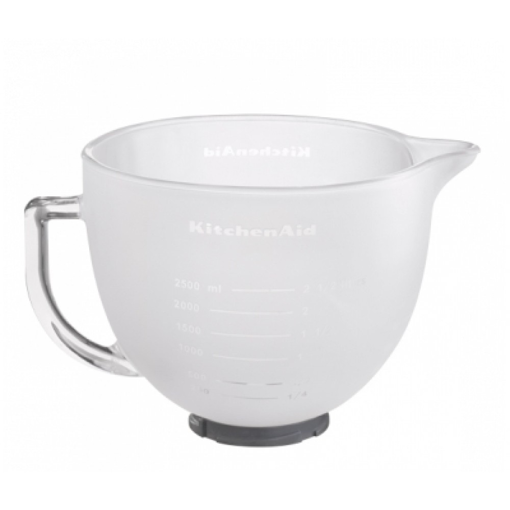 Фото - KitchenAid Чаша стеклянная 4,83 л KitchenAid матовая, 5K5FGB kitchenaid чаша для мороженого kitchenaid kica0wh